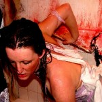 Liz Peters acting in a Bloodbath